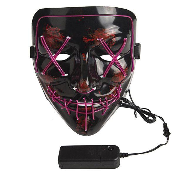 Светящаяся неоновая маска «Судная ночь» оптом