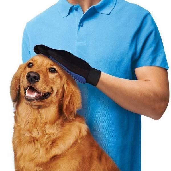 Перчатка для вычесывания шерсти True Touch оптом