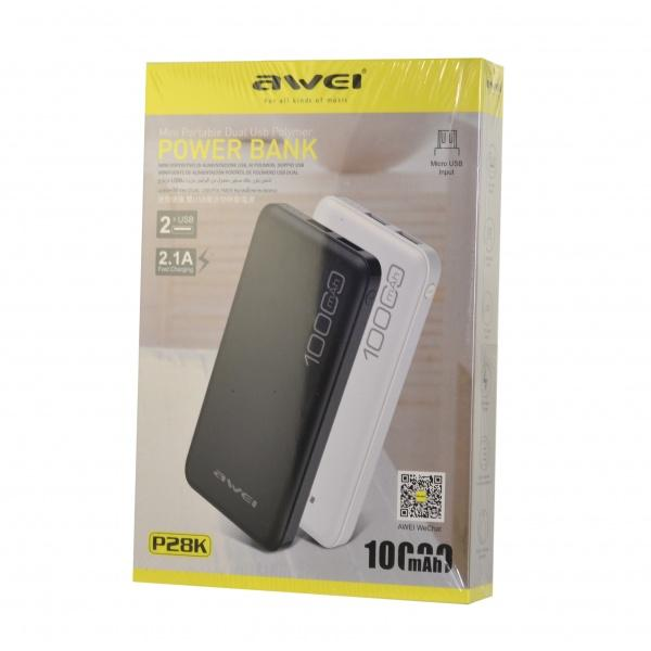 Power Bank Awei P28K 10000 мАч оптом