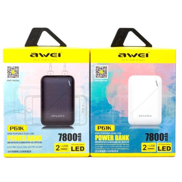 Power Bank Awei P61K 7800 мАч оптом