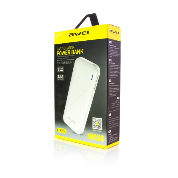 Power Bank Awei P75K 10000 мАч оптом