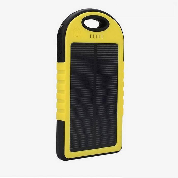 Внешний аккумулятор на солнечной батарее Power Bank Solar Charger 5000 mAh оптом