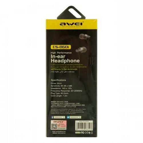 Проводные наушники Awei ES-860i оптом