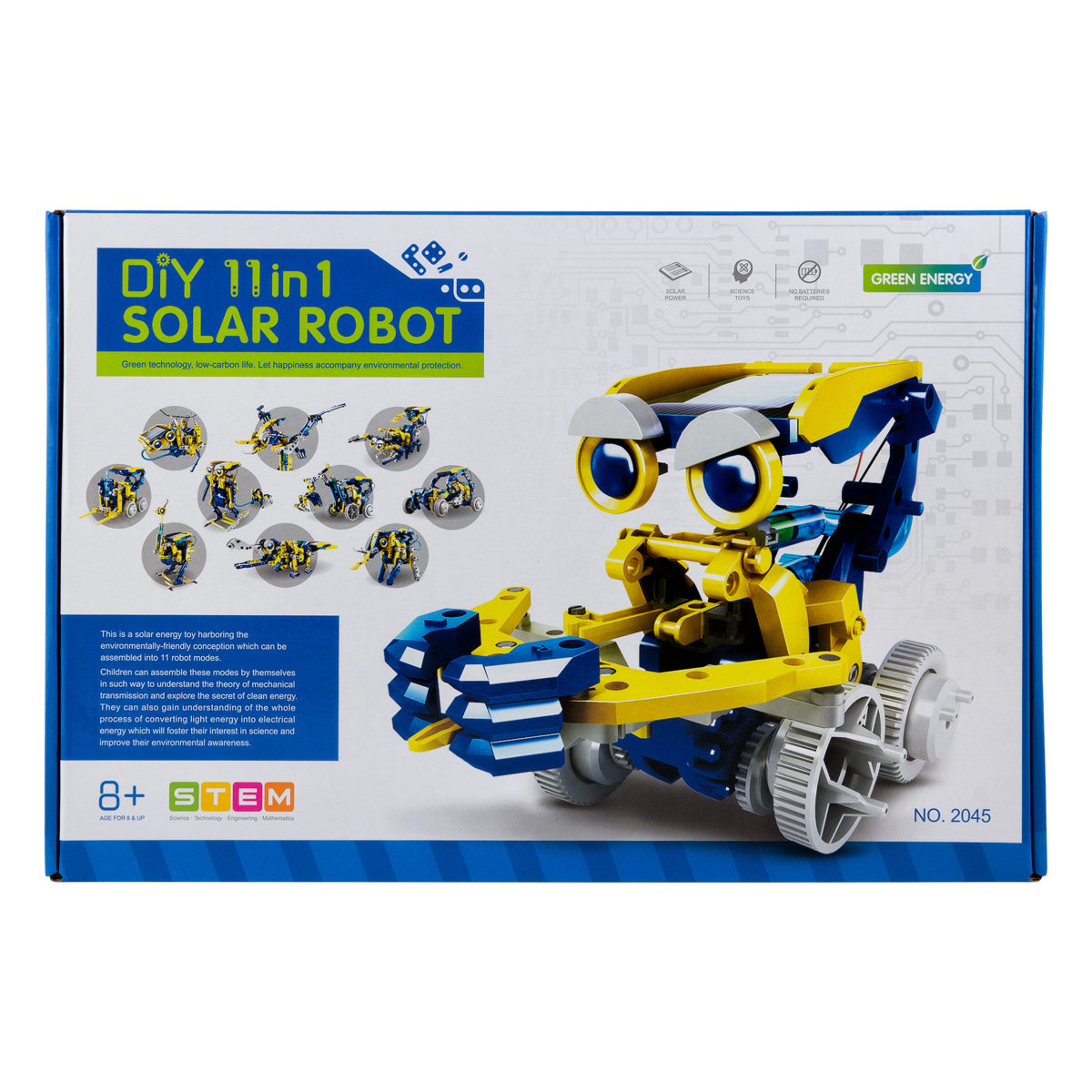Конструктор DiY Solar Robot 11 в 1 оптом