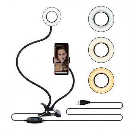 Кронштейн держатель для телефона со светодиодным кольцом оптом