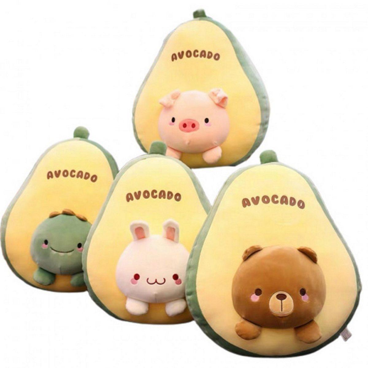 Подушка авокадо с пледом оптом