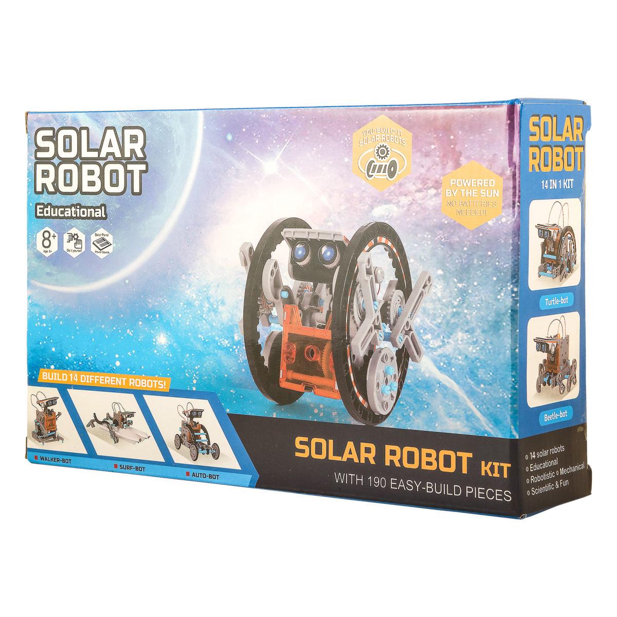 Solar Robot Kit 14 в 1 Конструктор с солнечным модулем оптом